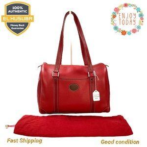 🌻💯 Vintage Gucci Shoulder Bag GG Red Leather